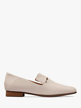 Clarks Pure Viola Trim Leather Loafers