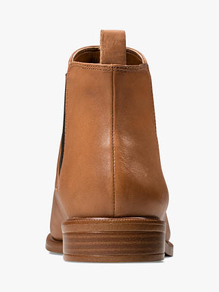 Buy Clarks Taylor Shine Slip On Leather Ankle Boots, Tan, 3 Online at johnlewis.com
