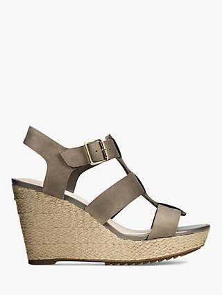 Clarks Maritsa 95 Wedge Leather Sandals