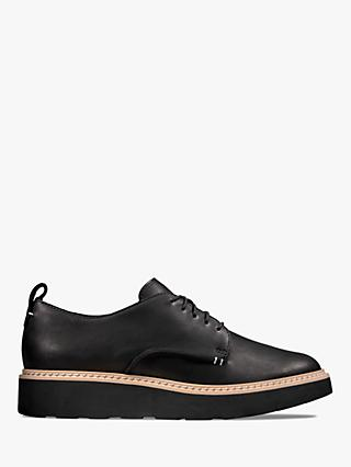 Clarks Trace Walk Leather Lace Up Shoes