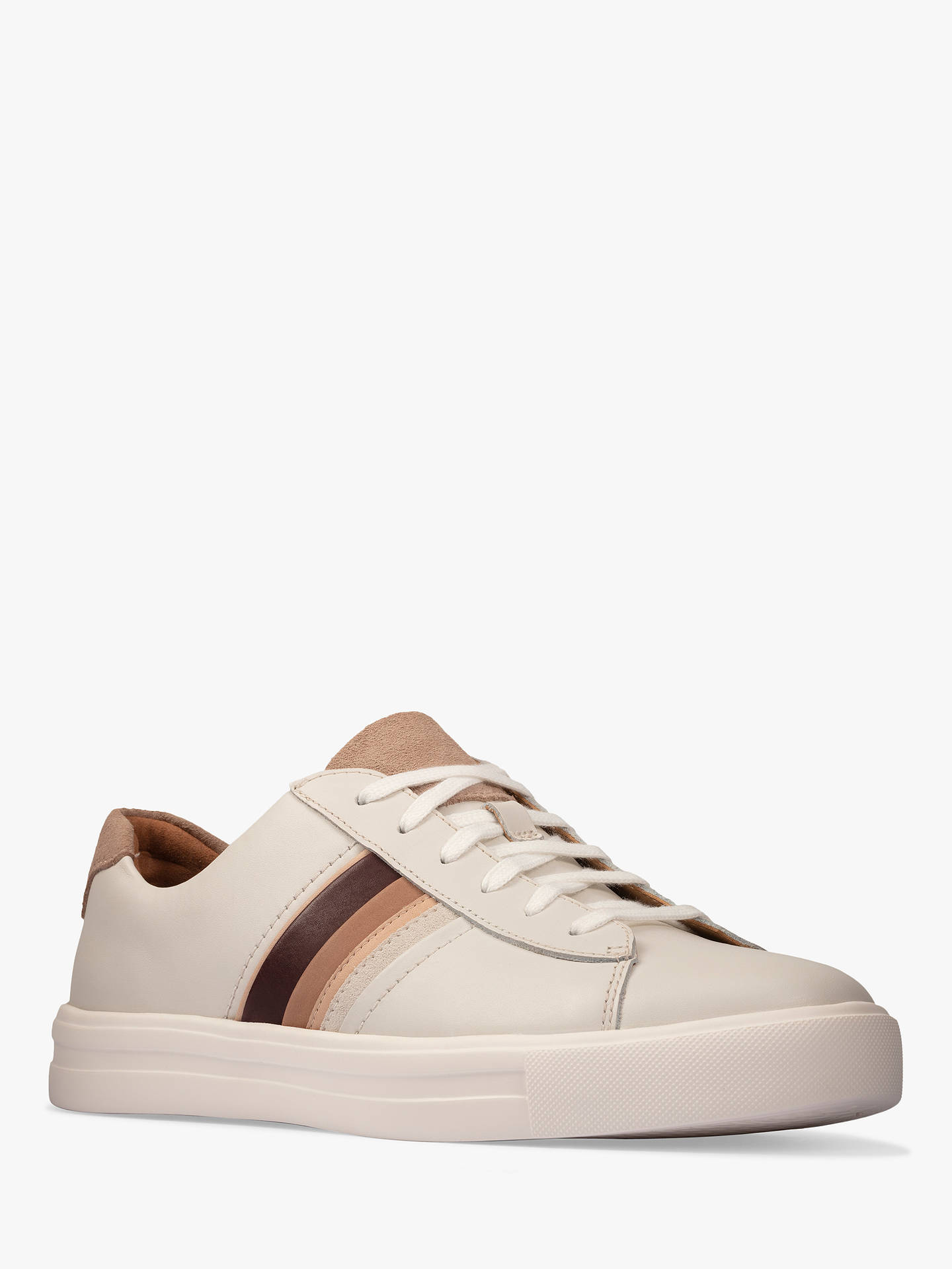 Buy Clarks Un Maui Low Top Lace Up Leather Trainers, Natural, 3 Online at johnlewis.com