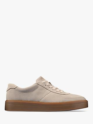 Clarks Hero Walk Flatform Suede Trainers, Blush
