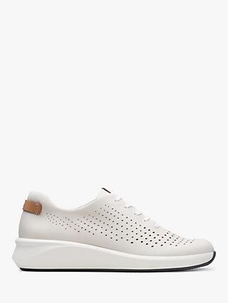 Clarks Un Rio Lace Up Leather Trainers