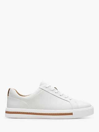 Clarks Un Maui Low Top Lace Up Leather Trainers