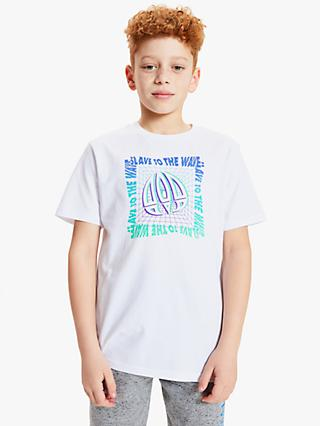 Animal Boys' Slave To The Wave Logo T-Shirt, White