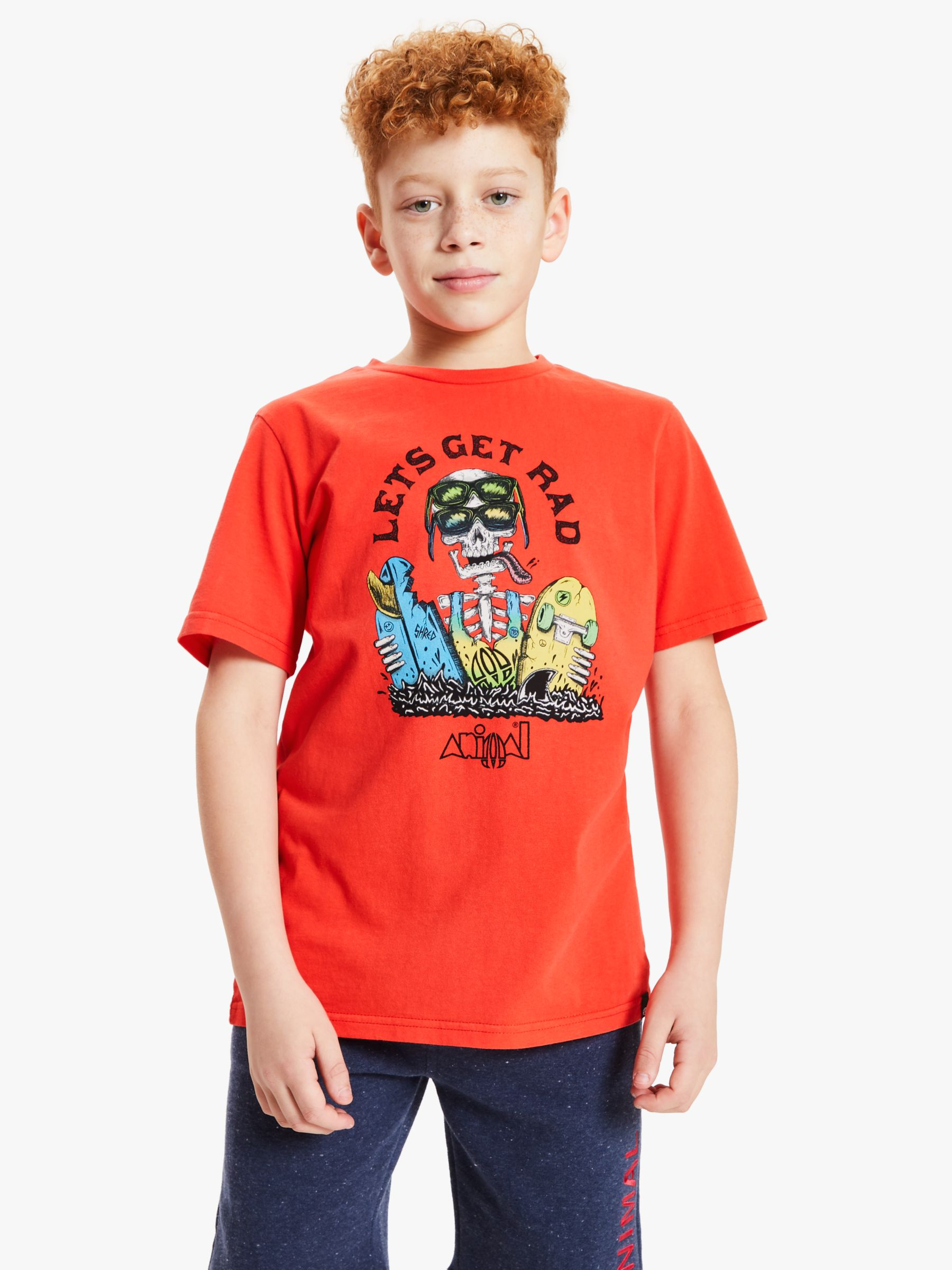 Animal Animal Boys' Rad T-Shirt, Red