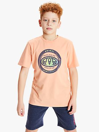 Animal Boys' Escape Logo Print T-Shirt, Orange