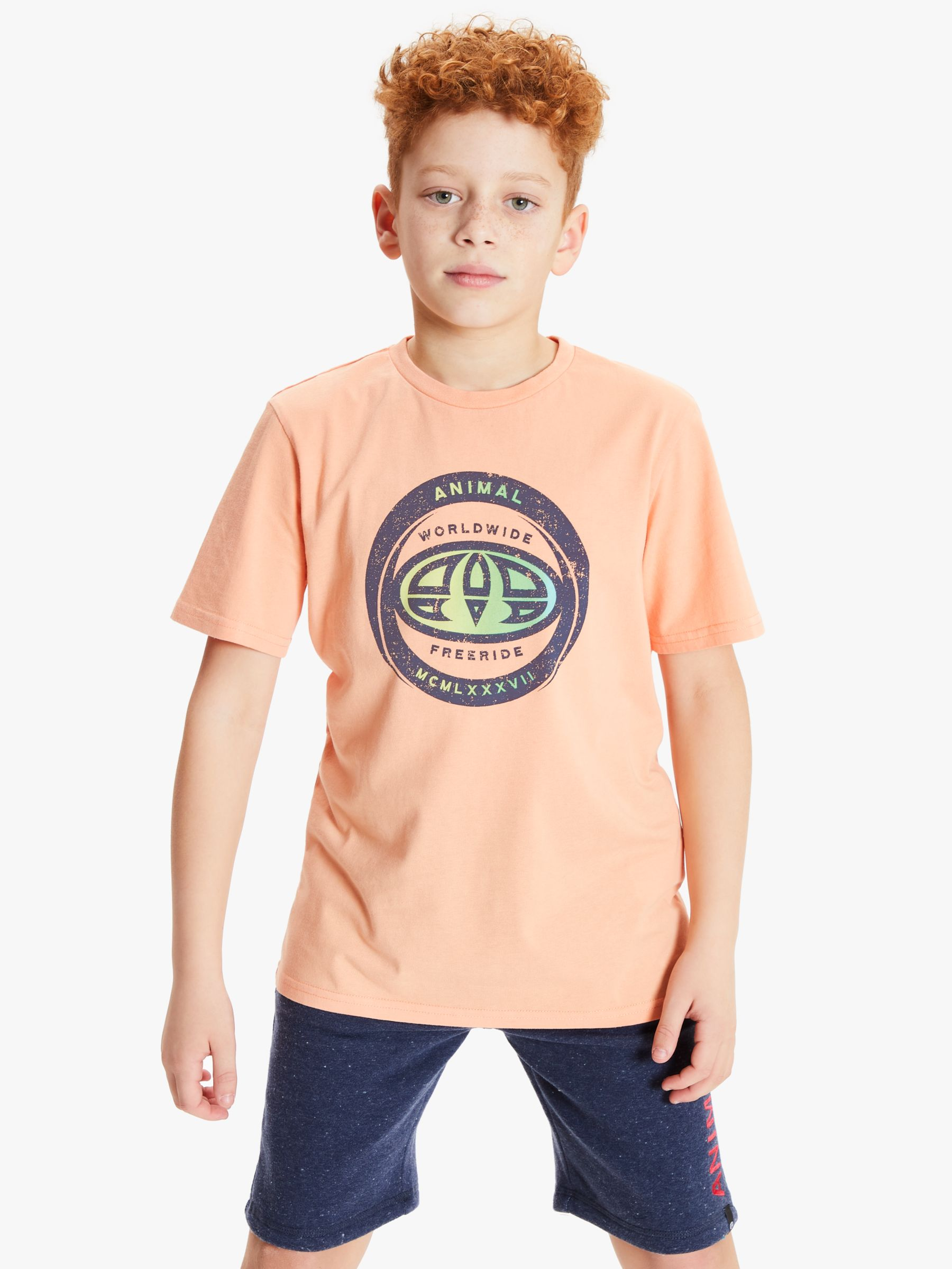Animal Animal Boys' Escape Logo Print T-Shirt, Orange