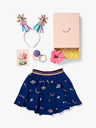 Stych Girls' Glow Girl Skirt And Accessories Gift Box Set, Navy