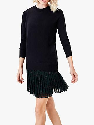 Oasis 2 in 1 Animal Jumper Dress, Black