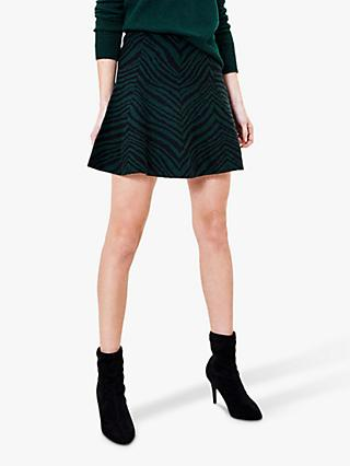 Oasis Toni Tiger Flippy Mini Skirt, Multi/Green