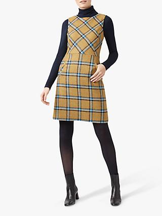 Hobbs Hattie Wool Dress, Mustard