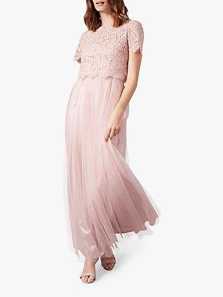 Phase Eight Kiera Lace Tulle Maxi Dress