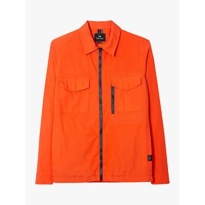 PS Paul Smith Zip Overshirt Jacket, Orange