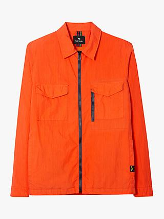 PS Paul Smith Zip Overshirt Jacket, Orange