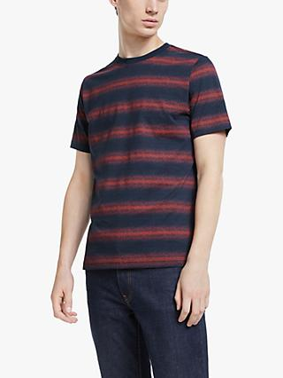 PS Paul Smith Short Sleeve Interference T-Shirt, Blue/Orange