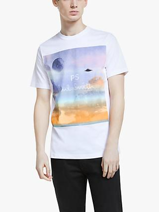 PS Paul Smith Short Sleeve UFO Print T-Shirt, White