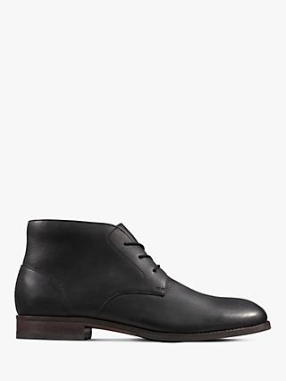 Clarks Flow Top Leather Boots, Black