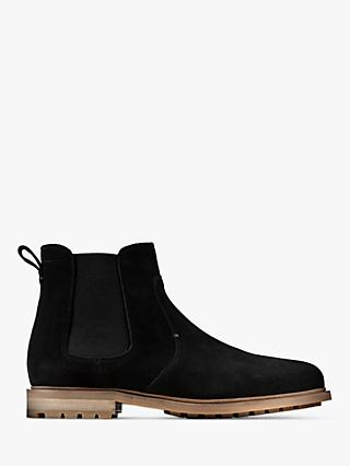 Clarks Foxwell Suede Chelsea Boots, Black