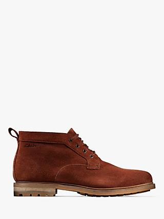 Clarks Foxwell Mid Suede Derby Boots