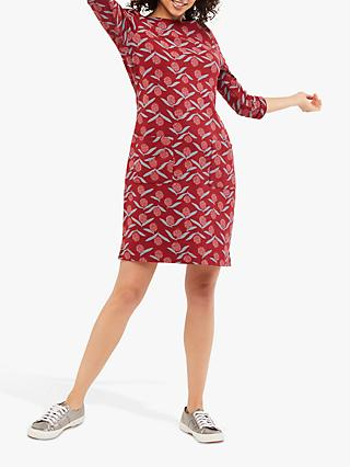 White Stuff Albie Printed Tunic Dress, Red