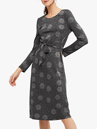 White Stuff Love Me Knot Floral Dress, Grey Print