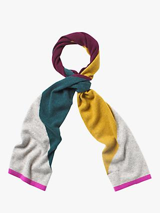 White Stuff Cashmere Colour Block Scarf, Multi