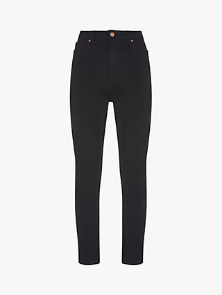 Mint Velvet Joilet Button Skinny Jeans, Black