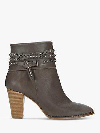 Mint Velvet Jade Studded Leather Boots, Grey