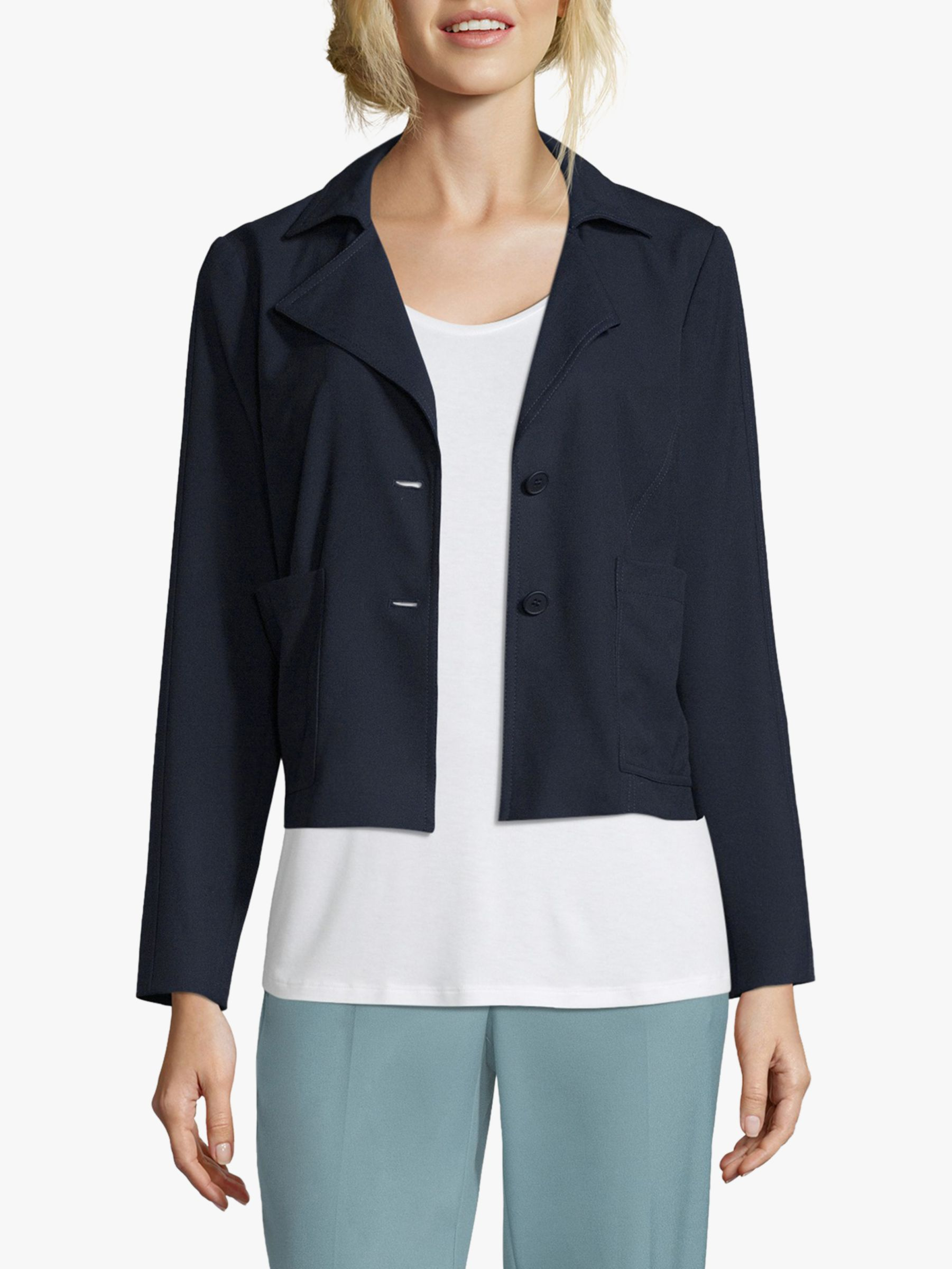 Betty & Co. Betty & Co. Simple Short Blazer, Navy
