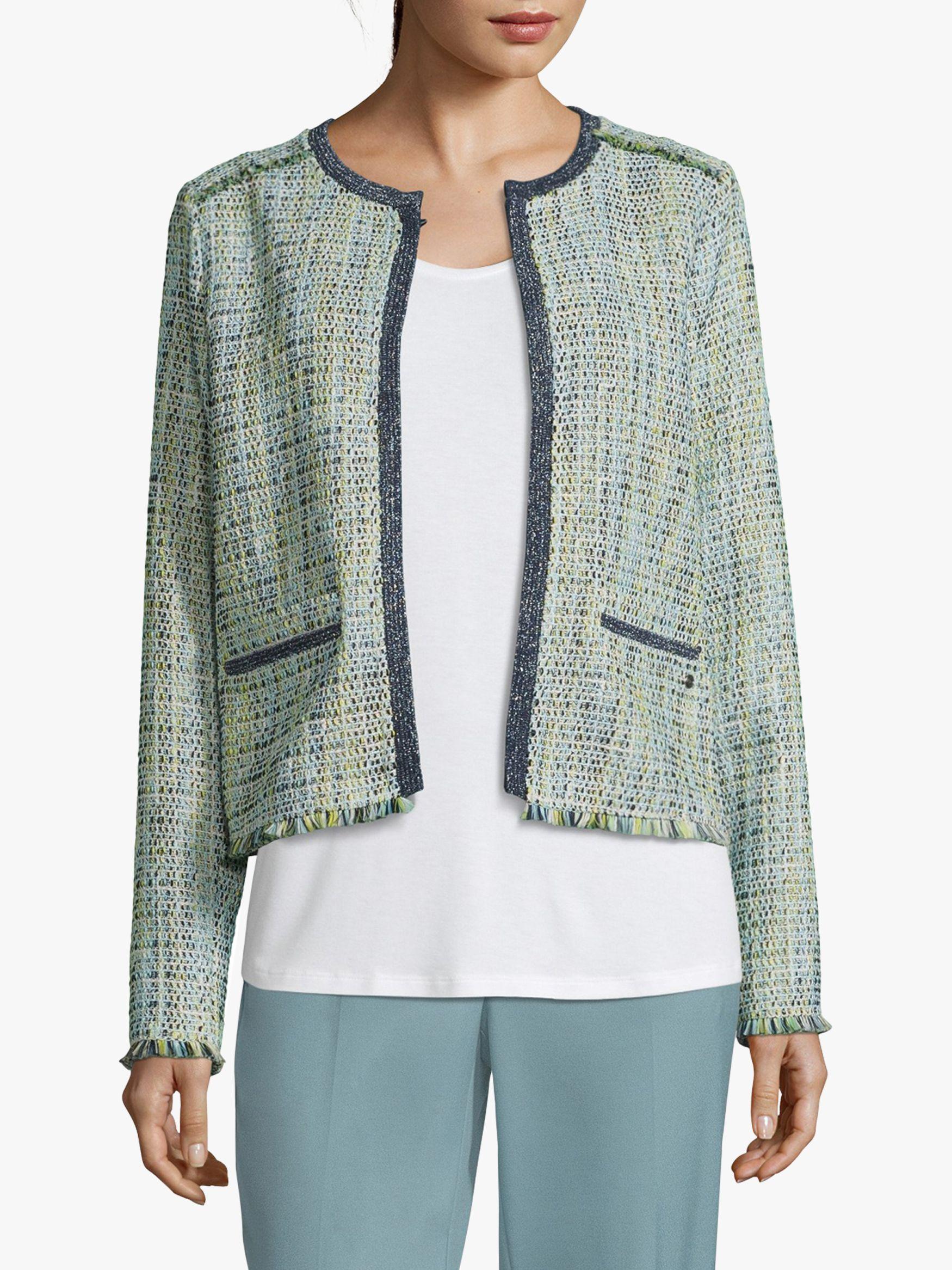 Betty & Co. Betty & Co. Unlined Woven Jacket, Cream/Green