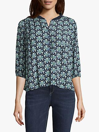 Betty & Co. Graphic Print Blouse, Blue/Green