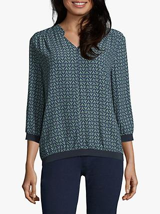 Betty & Co. Printed Blouse, Blue/Green
