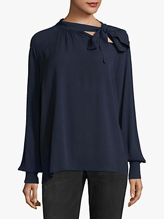 Betty & Co. Side Bow Blouse, Navy Blue