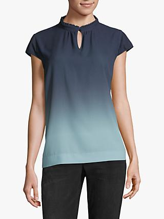 Betty & Co. Crêpe Blouse, Blue/Emerald