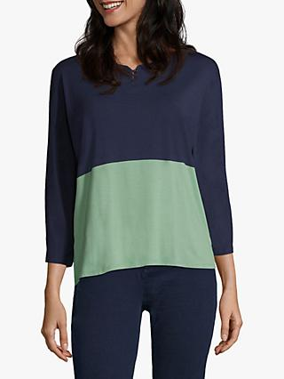 Betty & Co Colour Block Top, Blue/Green