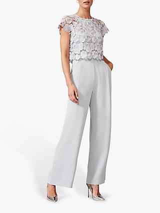 Phase Eight Brandie Lace Bodice Jumpsuit, Mineral