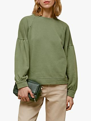 Whistles Gathered Sleeve Sweatshirt