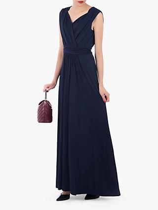 Jolie Moi V Neck Draped Maxi Dress