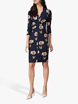 Phase Eight Monica Print Dress, Navy/Multi