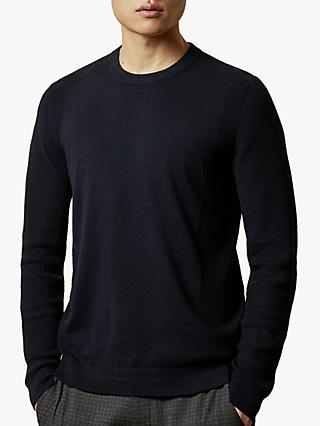 Ted Baker Oonop Knitted Jumper, Navy Blue