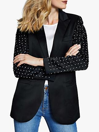 Harpenne Embellished Blazer, Black