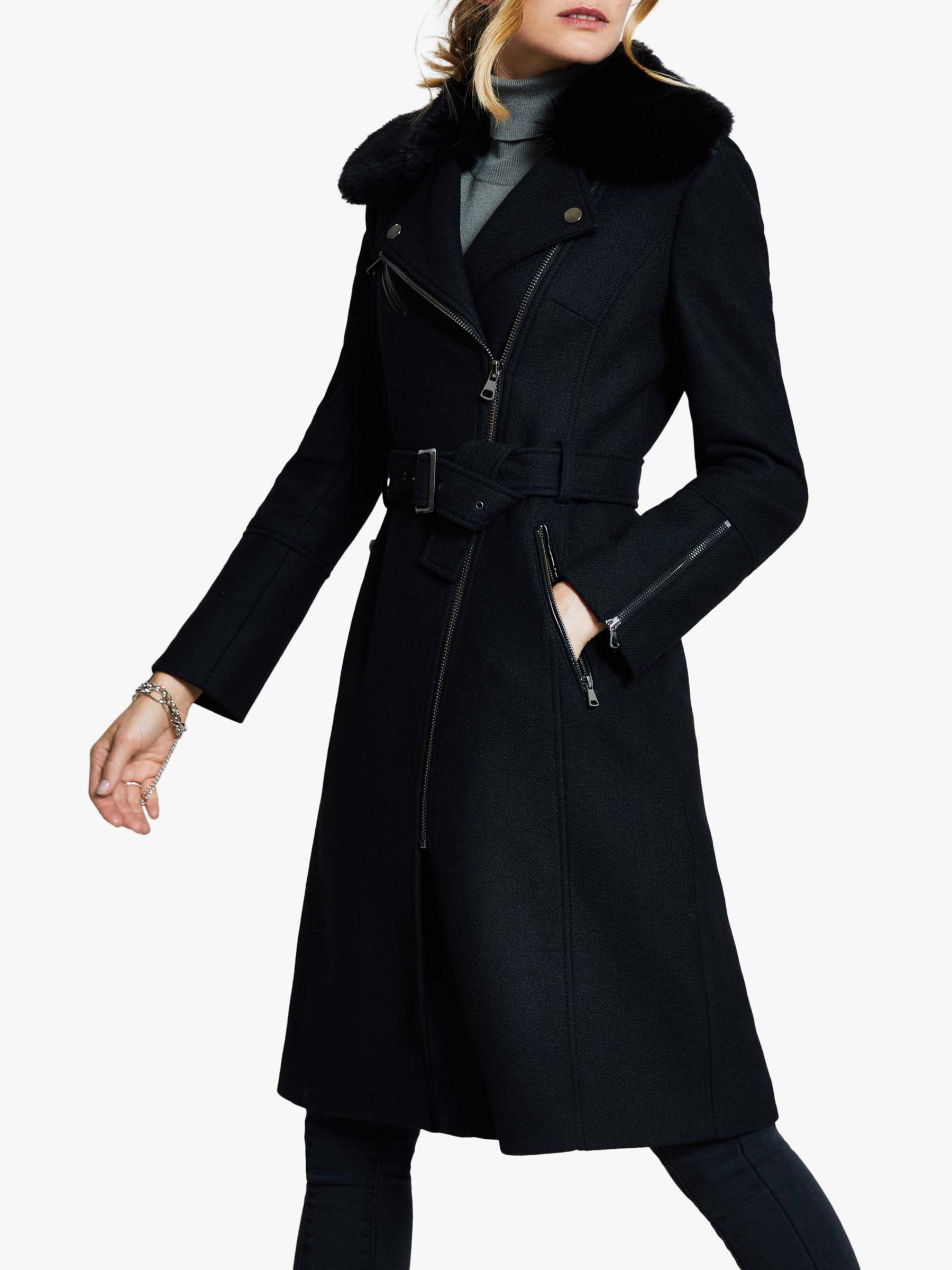 Harpenne Harpenne Belted Wool Coat, Black