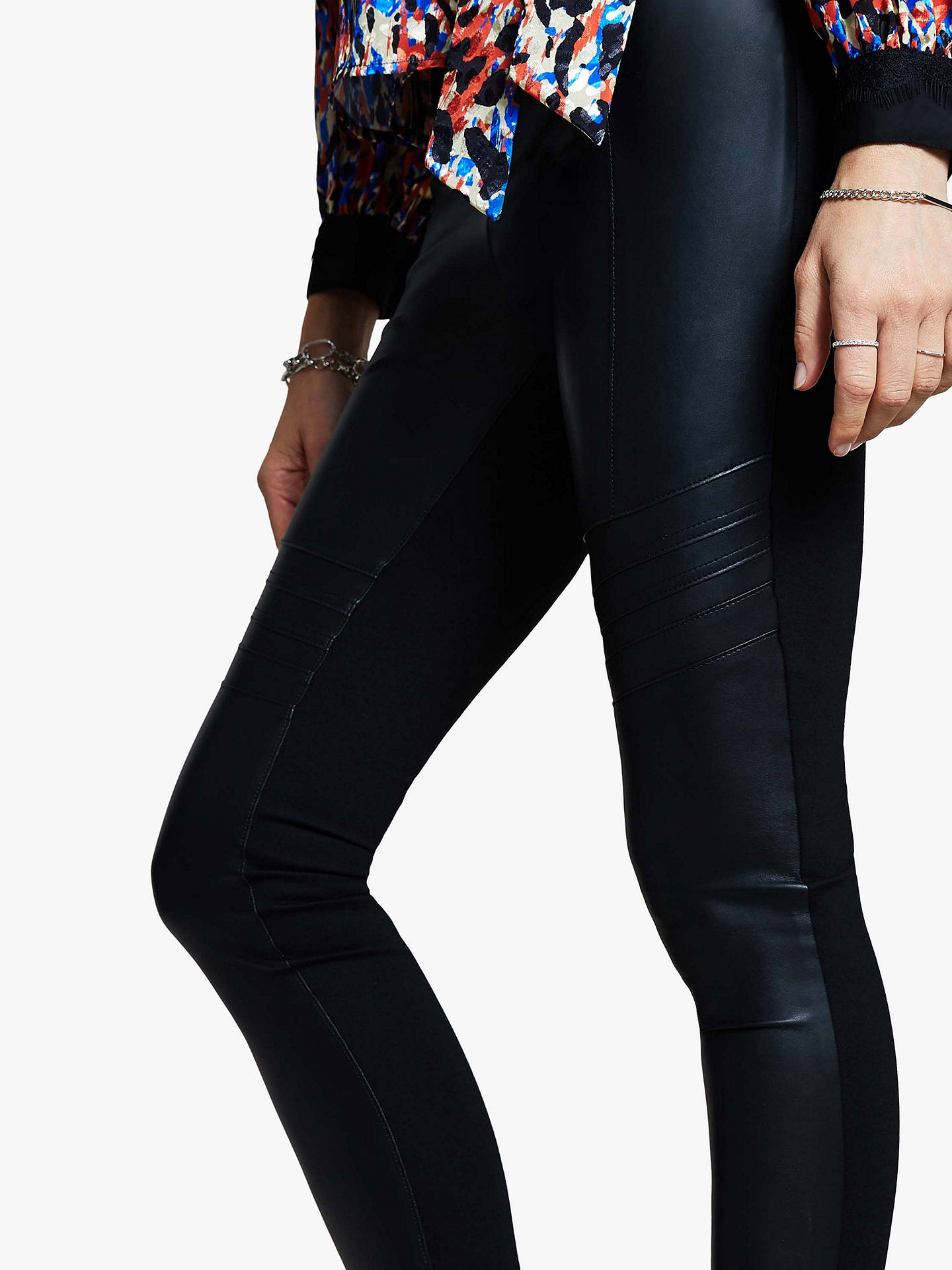 Buy Harpenne Biker Trousers, Black, 10 Online at johnlewis.com