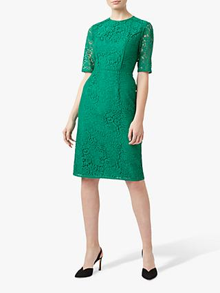 Hobbs Penny Lace Dress, Meadow Green