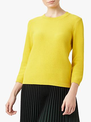 Hobbs Jade Cotton Jumper, Sunshine Yellow
