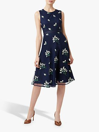 Hobbs Julia Floral Dress, Midnight