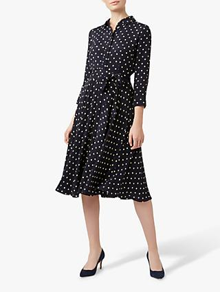 Hobbs Lainey Shirt Dress, Navy