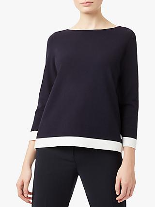 Hobbs Gracie Sweater, Navy Ivory