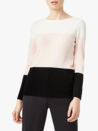 Hobbs Alice Colour Block Jumper, Multi